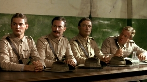 Still from Breaker Morant - Edward Woodward, 3rd from left, portrayed Harry 'Breaker' Morant